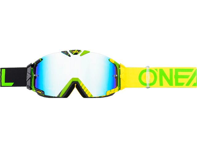 ONeal B-30 Goggle DUPLEX black/hi-viz/green-radium